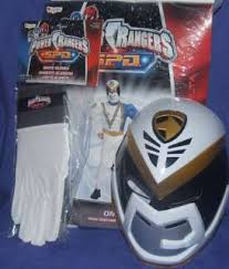 power rangers spd white omega muscle costume size 4 6 small s new