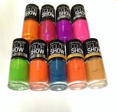 maybelline color show nail polish neon vintage leather brand new