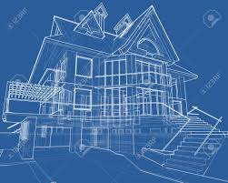 house blueprint 3d technical draw stock photo picture and