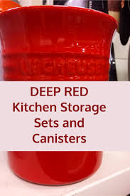 4 piece red canister sets for kitchen storage u2013 red kitchen