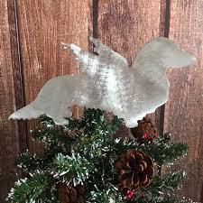 dachshund angel long haired weiner dog christmas tree