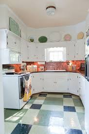 Shabby Chic Kitchen Cabinet Kitchens Contemporary Kitchen With Copper Backsplash And