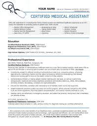 Executive Assistant Job Resume by Medical Assistant Resume Berathen Com
