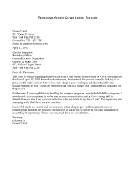 Admin Cover Letter Examples Administration Cover Letter
