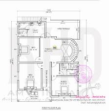 free floor plan and elevation of 2927 square feet 5 bhk