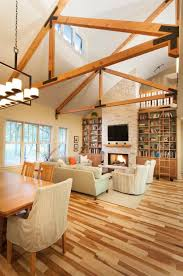 Exposed Beam Ceiling Living Room by 30 Stunning Interior Living Spaces With Exposed Ceiling Trusses