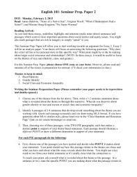 English      Seminar Prep  Paper   studylib net