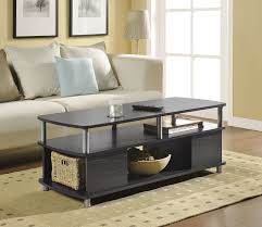 Display Coffee Table Amazon Com Altra Carson Coffee Table Espresso Silver Kitchen