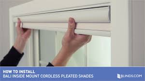how to install bali cordless pleated shades inside mount u0026raquo