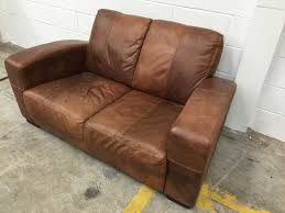Leather Sofas At Dfs by Tan Brown Dfs Morale Distressed 2 Seater Sofa Aherns Furniture