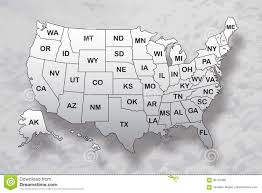 Map Of America With States by Poster Map Of United States Of America With State Names And Shadow