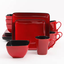 better homes and gardens rave 16 piece square dinnerware set red better homes and gardens rave 16 piece square dinnerware set red walmart com
