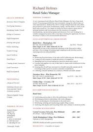 Sales Manager CV example  free CV template  sales management jobs     Retail Sales Manager resume