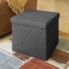 seville classics charcoal grey storage bench web284 the home depot
