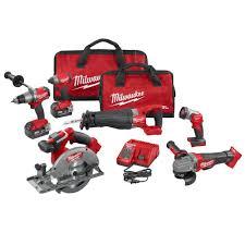 milwaukee m18 fuel 18 volt lithium ion cordless combo kit 6 tool