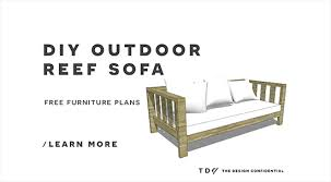 free diy furniture plans how to build an outdoor reef sofa with