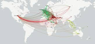 Diagram Of The World Map by Mapping The Global Flow Of Refugees Through News Coverage
