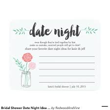 bridal shower date night idea card mason jar bridal showers