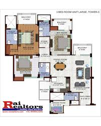 Servant Quarters Floor Plans 1349527583floor Plan 3 Bhk Plus Servant Quarter 1990 Sqft Jpg
