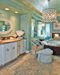 green coastal bathroom with mediterranean flair this luxurious
