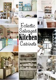 salvaged kitchen cabinets