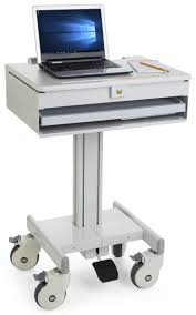 medical laptop cart locking drawer