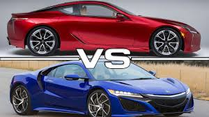 lexus lc pricing 2017 lexus lc 500 vs 2017 acura nsx youtube