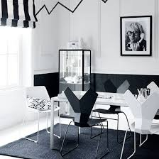 Black And White Dining Room Chairs Dining Table Black Black And White Dining Room View Full Size