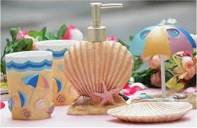 Coastal Bathroom Accessories by Set Bathroom Set Resin Beach Bathroom Set Bathroom Accessories 1 3
