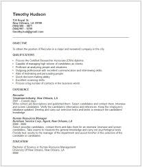 Human Resources Resume Samples by Recruiter Resume Example