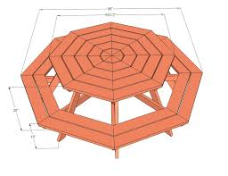 Free Woodworking Plans Round Coffee Table by Picnic Table Plans Octagon Picnic Table Free And Easy Diy