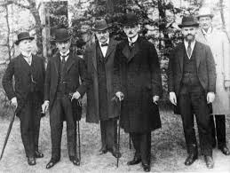 German deligates in Paris - they had no say over the terms of the Treaty