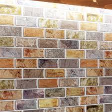 adhesive mosaic tile backsplash color subway 10 pieces peel n