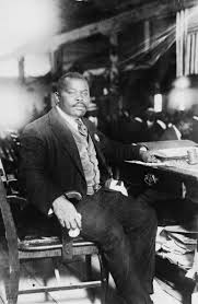 Marcus Garvey  father of the Back to Africa Movement and Jamaica     s first National Hero
