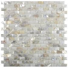 Cream Subway Tile Backsplash by Cream Brick Pearl Shell Tile Kitchen Backsplash Subway Tile Outlet
