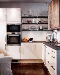Complete Kitchen Cabinets Modern Small Kithcen With L Shaped Design Wooden Floor Wood