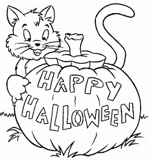 halloween cat hat pumpkin coloring pages archives gallery