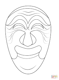 korean mask of yangban coloring page free printable coloring pages