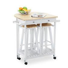 Wooden Kitchen Island Table Oak Kitchen Island Cart Trolley Storage Dining Table 2 Bar Stools
