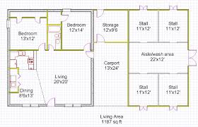 Shop With Living Quarters Floor Plans Horse Barn House Plans Tiny House