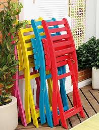 Colorful Outdoor Chairs Coloring Book - Colorful patio furniture