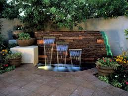 Outdoor Wall Planters by Decor U0026 Tips Patio Pavers And Small Pond With Outdoor Wall