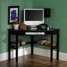 furniture small black wooden corner computer desks for minimalist