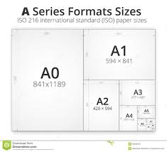 size of format a paper sheets stock vector image 70676884