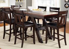 Liberty Furniture Lawson  Piece Trestle Gathering Table With - Counter height kitchen table
