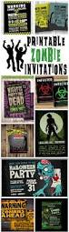 Halloween Party Game Ideas For Teenagers by Printable Zombie Invitations For A Teen Zombie Party Omg Gift