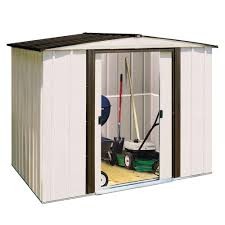 Metropolitan Shed Arrow Newport 8 Ft X 6 Ft Steel Shed Np8667 The Home Depot
