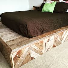 how to build a platform bed from reclaimed wood youtube