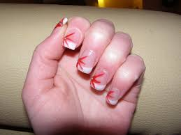 nail extensions with nail art nail art with red stripes an u2026 flickr