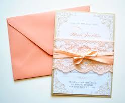 Printable Invitation Card Stock Peach Wedding Invitation Wedding Invitations Lace Rustic